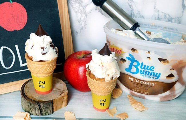 Back to School Ice Cream Cupcake Cones