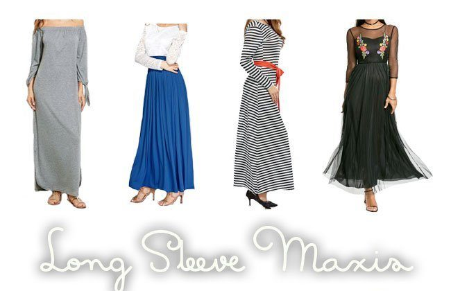 Thursday Fashion Files Link Up #123 – Maxi Dresses with Sleeves