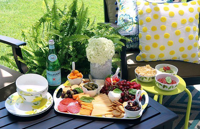 Our Outdoor Living Space & New Serveware Collection