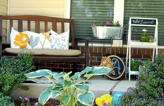 Summer Front Porch 2017 {Summer Gardening Series}