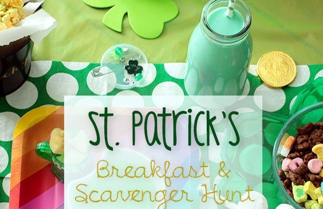 St. Patrick's Day Themed Breakfast & Scavenger Hunt