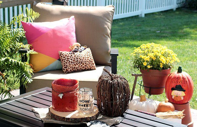 Patio Reveal with Fall Decor from Here Today + Giveaway!