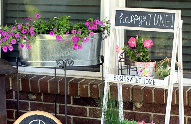 Front Porch Makeover: Porch Decor with At Home {Curb Appeal Blog Hop}
