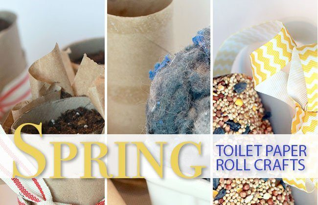 Spring Toilet Paper Roll Crafts #CareToRecycle