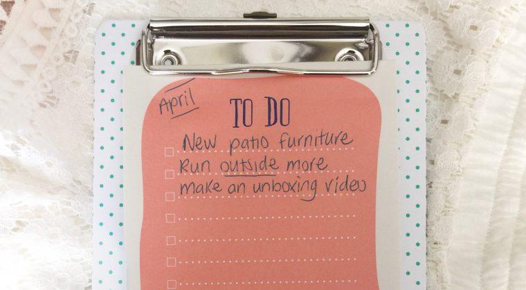 April Monthly Goals