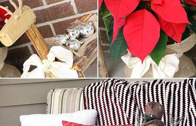 Holiday Front Porch & a $25 Giveaway to Here Today