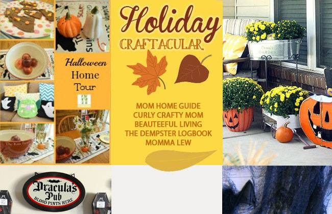 Holiday Craftacular Link Up: Spooky Table Centerpiece by Momma Lew