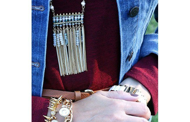 Thursday Fashion Files Link Up #32: Marsala Sweater and Jeulia Ring