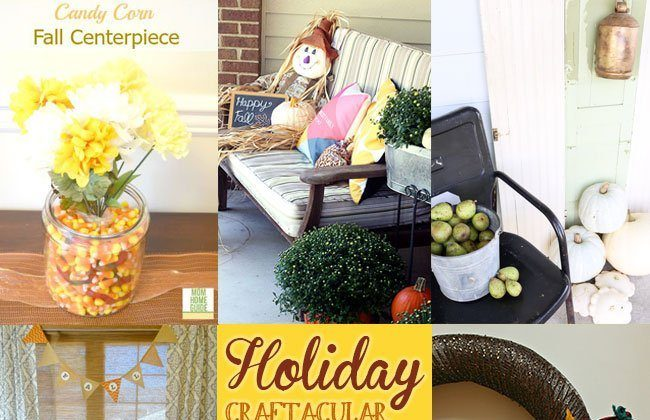 Holiday Craftacular Link Up: Living Room Console Table Decorated for Fall by Mom Home Guide