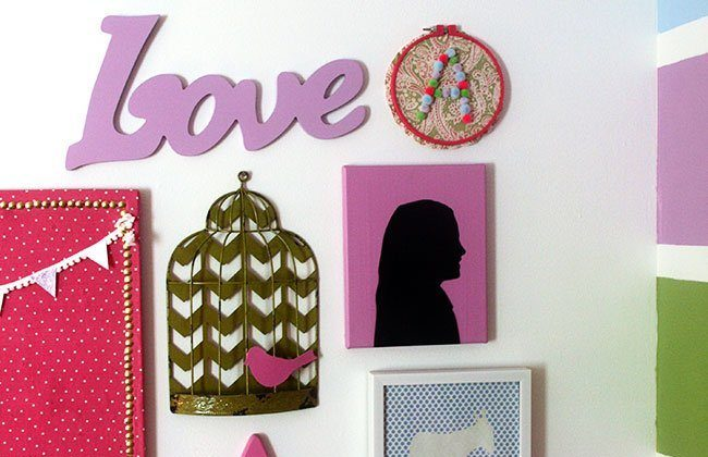 Sentimental Gallery Wall for a Girl's Bedroom