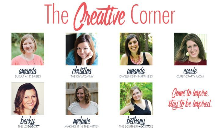 The Creative Corner Link Up Party – 8/23/15 (and Meal Plan 74)