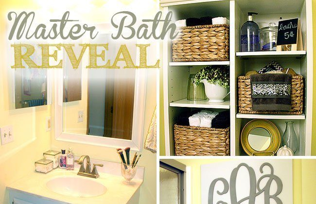 Gray and Yellow Master Bathroom Reveal