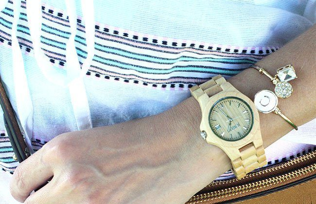 Thursday Fashion Files Link Up #19 – Cover Up with Romper, Melon Shorts & JORD Watch