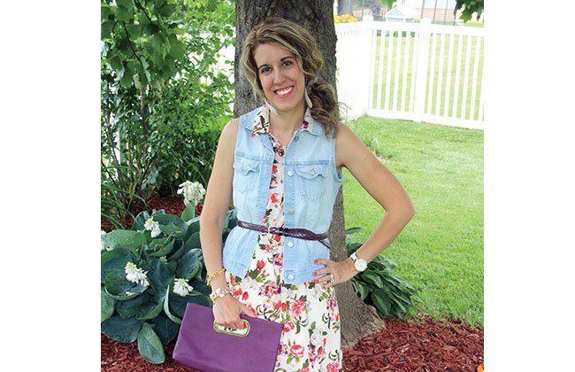 Thursday Fashion Files Link Up #18 – Floral Dress Restyled w/ Denim Vest