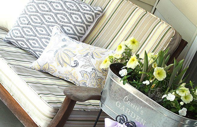 Spring Porch Makeover and #LoveGrowsHere