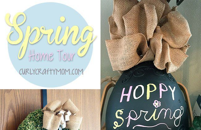 Spring Home Tour at Curly Crafty Mom