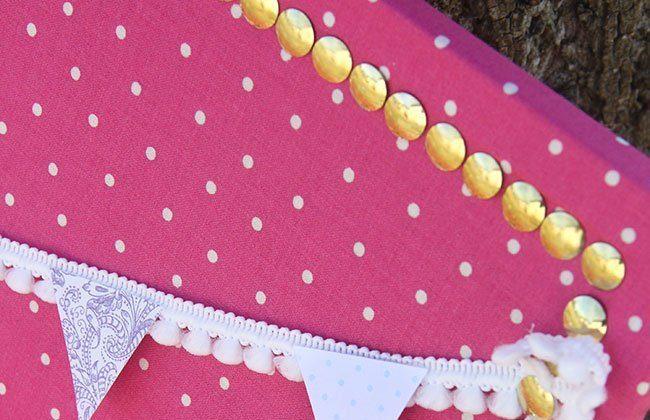 DIY Decorative Fabric Pin Board with Mini Bunting