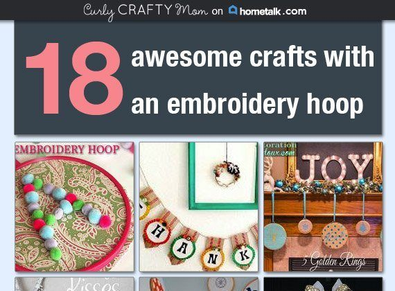 18 Awesome Crafts with an Embroidery Hoop on Hometalk.com