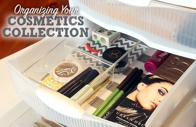 Organizing Your Cosmetics Collection {a Silhouette Cameo Project}