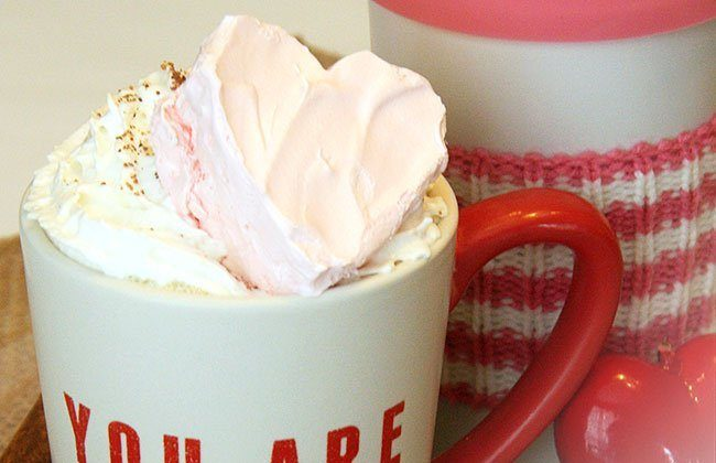 12 Months of Drinks: White Hot Chocolate with Heart Marshmallows and Meal Plan Week 47