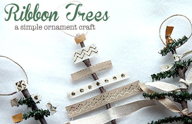 Ribbon Tree Ornaments and Meal Plan Week 39 and 40