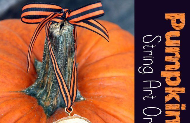 Pumpkin String Art Ornaments
