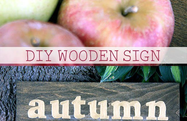 DIY Autumn Wooden Sign
