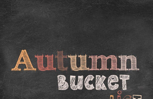 2014 Autumn Bucket List and Curly Crafty Mom Meal Plan, Week 27