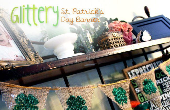 Glittery St. Patrick's Day Banner