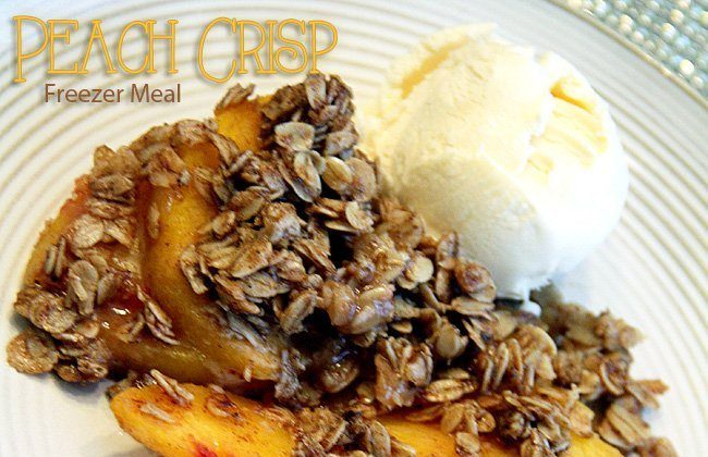 This Month's Freezer Meal: Peach Crisp