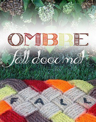 Ombre Fall Door Mat