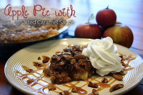 Apple Pie with Salted Caramel Sauce