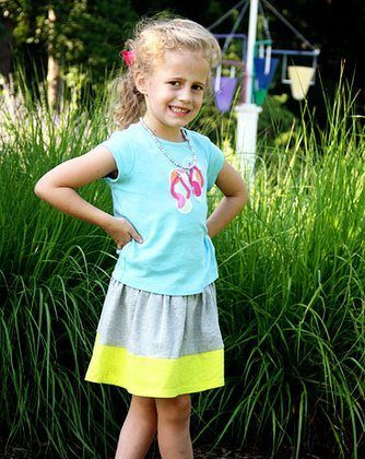 Trendy Tot Tuesday #22: Gray and Neon Yellow Color Block Love at Whitecliff Park