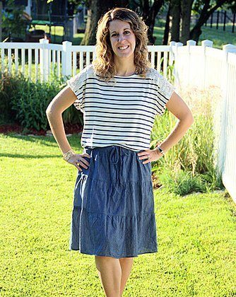 My Style Monday: Lace and Navy