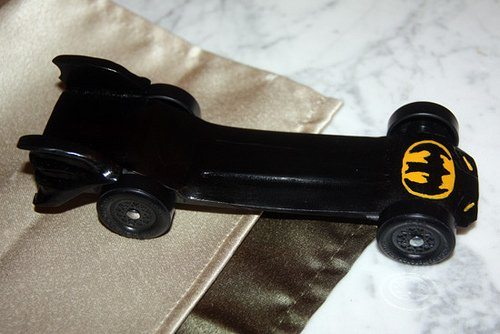 The story behind the Batmobile (Pinewood Derby)