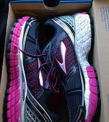 New shoes. Upcoming races. Heck yeah!