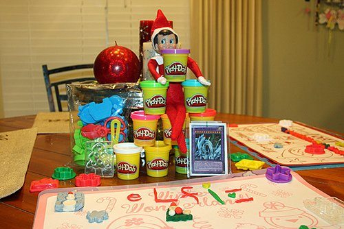 Fun with  our Christmas Play Doh