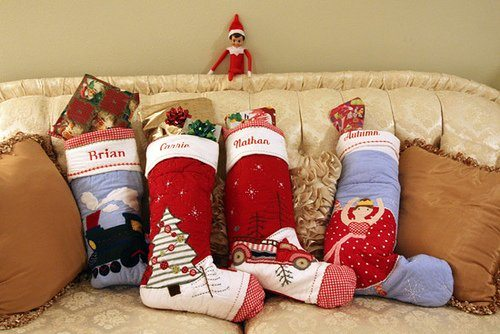 Stockings Filled with Gifts