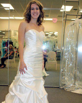 Eeeeee! My bridal dress! (Brian, stay OUT!)