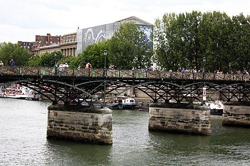 Pont des Arts Bridge, dinner at La Ferrandaise and a walk through Luxembourg Gardens