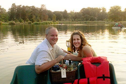 Sunset Picnic on a Paddle boat at the Boathouse