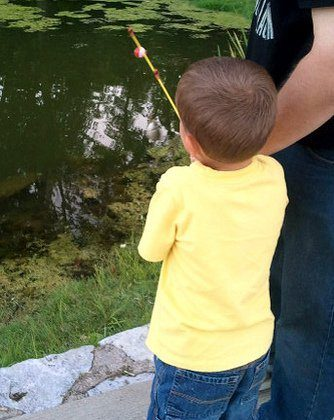 Staycation Day 6… Nathan's First Catch!