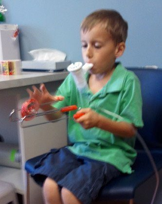 Nathan's First Visit with the Pediatric Pulmonary DR