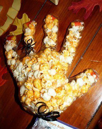 Spooky Popcorn Hands