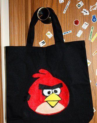 Angry Bird Treat Bag Craft