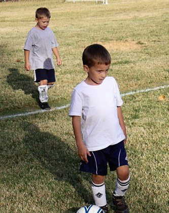 Nathan's First Soccer Practice this Fall!