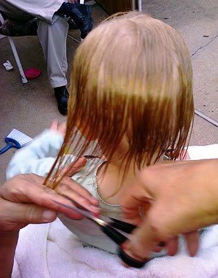 Autumn Nicole's first haircut