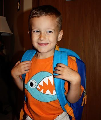 Nathan's First Day of Preschool 4