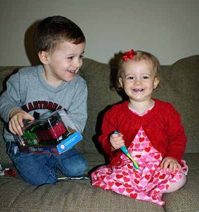Valentine's Day with the Munchkins!