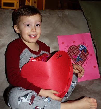 Nathan's Valentine's Day party at school